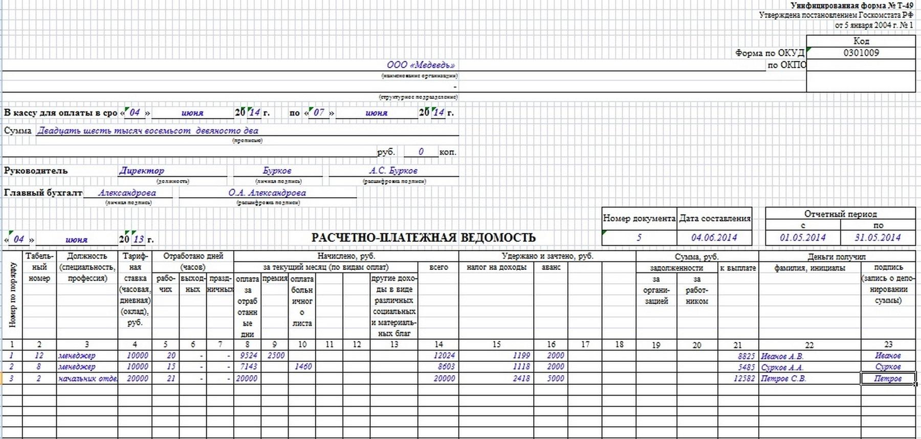 РАСЧЕТНО-ПЛАТЕЖНАЯ ВЕДОМОСТЬ ФОРМА Т-53 БЛАНК СКАЧАТЬ БЕСПЛАТНО