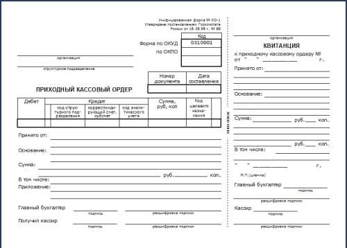 Расходный кассовый ордер (форма ко-2, бланк) 2017 скачать.