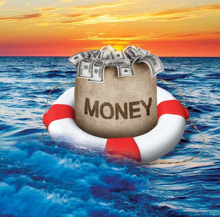Деньги в спасательном круге