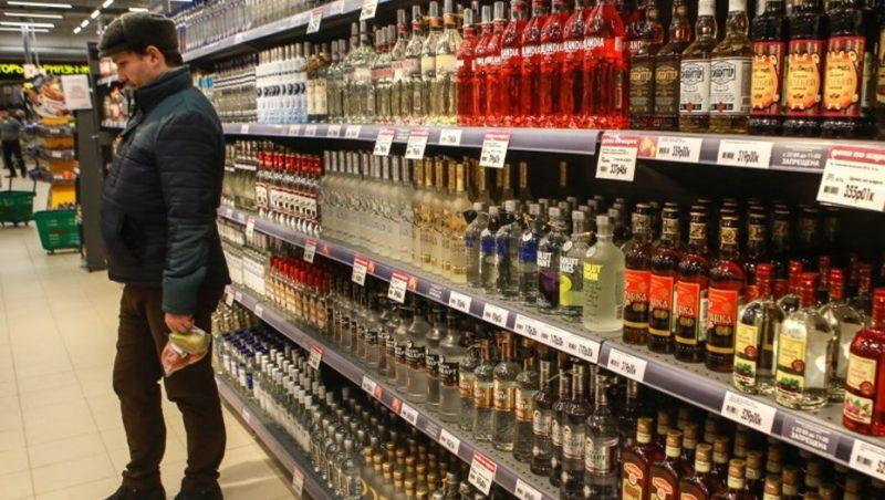 Алкоголь на полках
