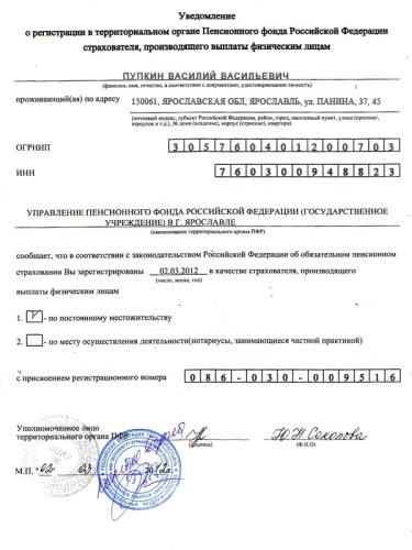 Регистрация ип в пфр в 2017: документы, порядок