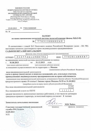 Патент на торговлю для индивидуальных предпринимателей