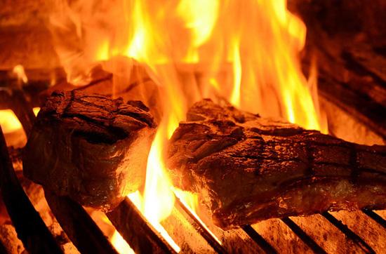 Еда на открытом огне
