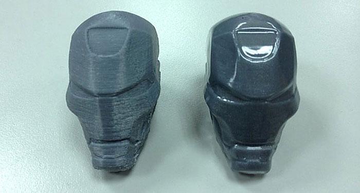 Литая модель маски и аналогичное изделие, изготовленное на 3d принтере
