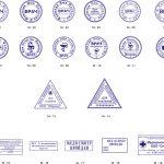 Штамп врача может быть круглой, прямоугольной или треугольной формы